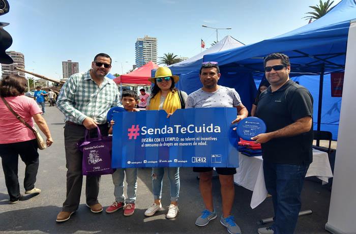 Lanzan campaña de verano #SendaTeCuida en Tarapacá