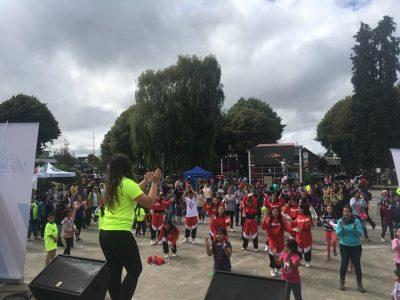 Alegre jornada deportiva y recreativa se vivió en Castro para promover campaña #SendaTeCuida