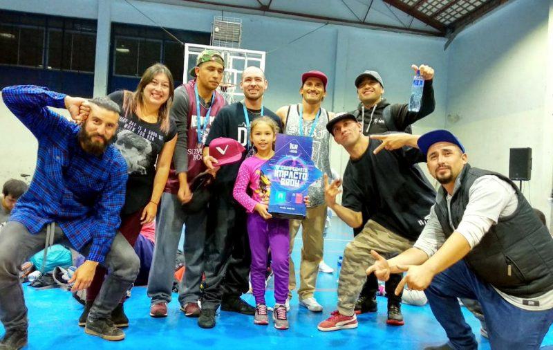SENDA Previene Mulchén reúne a bailarines de break dance de la Región del Biobío