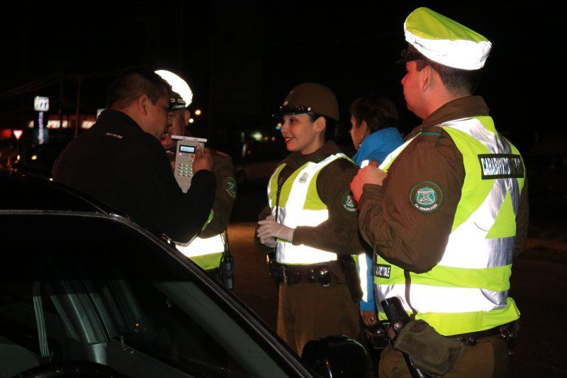 Se realizaron 499 controles de alcotest y narcotest en La Araucanía durante el fin de semana