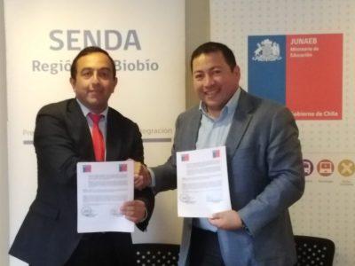 SENDA y JUNAEB firman Acuerdo para implementar plan preventivo de drogas en la Región del Biobío