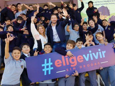 """SENDA y MINDEP lanzaron concurso """"Mi Colegio Elige Vivir Sin Drogas"""" el que premiará con más de 1 millón de pesos en implementación deportiva"""