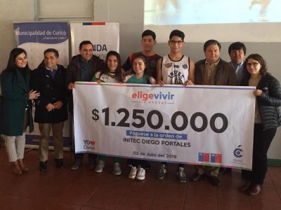 """Instituto de Innovación Tecnológica """"Diego Portales"""" de  Curicó ganó concurso regional contra las drogas"""