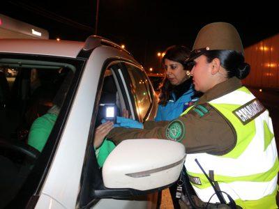 Senda y Carabineros sacan de circulación a 8 conductores bajos los efectos de las drogas en La Araucanía