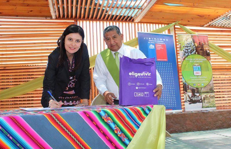SENDA Arica firma convenio de colaboración técnica con la Municipalidad de Camarones