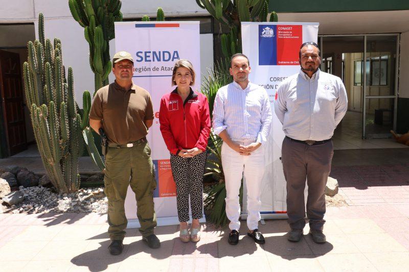 SENDA Atacama impulsó campaña de fin de año «Piensa en la consecuencia» y participó en el lanzamiento del Plan Nacional de Contingencia