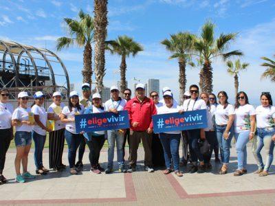 Con actividades recreativas y deportivas desarrollan campaña de prevención de drogas en  Cavancha