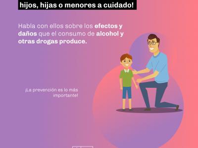 SENDA Los Ríos refuerza lanzamiento decálogo de tips y consejos de parentalidad positiva para evitar el consumo de alcohol y otras drogas en cuarentena.
