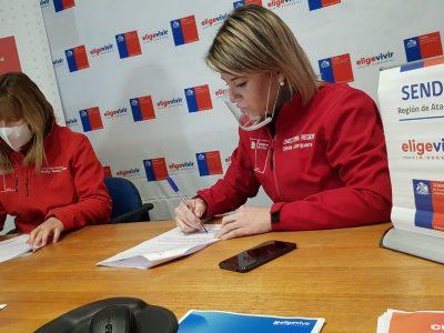 SENDA y FOSIS fortalecerán estrategia preventiva en Atacama luego de firmar convenio de colaboración