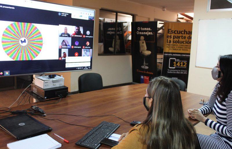 SENDA Arica y Parinacota aplica el programa Continuo Preventivo de manera online