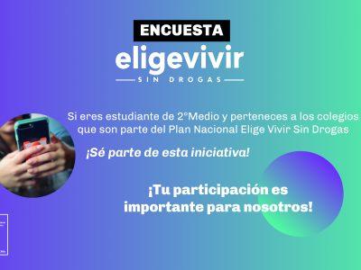 """SENDA INICIA IMPLEMENTACIÓN ONLINE DE LA ENCUESTA DE DIAGNÓSTICO DEL PLAN NACIONAL """"ELIGE VIVIR SIN DROGAS"""""""