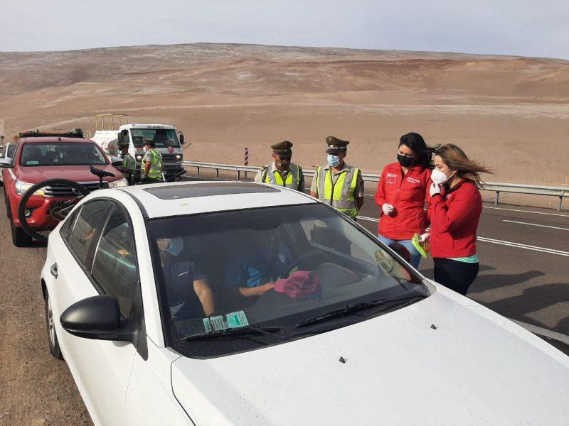 En Arica: Realizan operativo Tolerancia Cero en acceso a Caleta Vitor