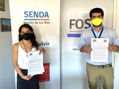 SENDA Y FOSIS DE LOS RIOS FIRMAN CONVENIO DE COLABORACIÓN TÉCNICA