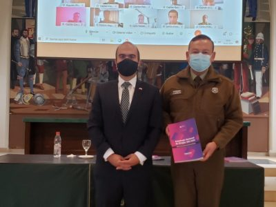Director Nacional presenta Estrategia Nacional de Drogas a Academia de Ciencias Policiales de Carabineros