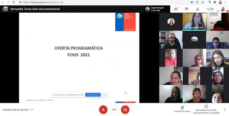 FOSIS DE LOS RÍOS REALIZA JORNADA DE PRESENTACIÓN OFERTA PROGRAMÁTICA A RED DE TRATAMIENTO E INTEGRACIÓN SOCIAL SENDA LOS RIOS