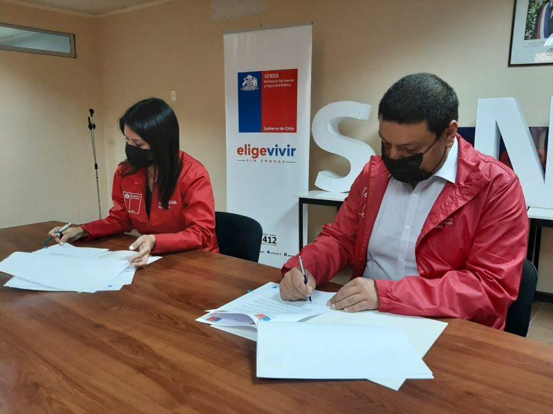 SENDA y SENADIS firman convenio para entregar atención inclusiva a usuarios que presenten discapacidad en los centros de tratamiento de la región