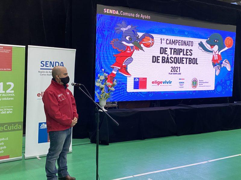Director Nacional de SENDA lanza Campeonato Interescolar en Puerto Aysén como parte del Plan Elige Vivir Sin Drogas
