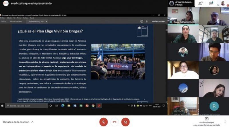 En Coyhaique y Aysén Mesas Comunales Elige Vivir Sin Drogas realizaron su  primera sesión