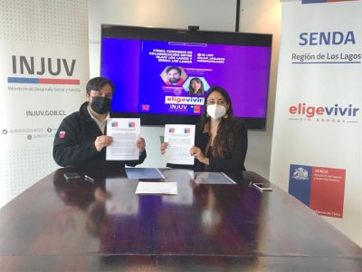 Jóvenes de la región accederán a diversas acciones preventivas gracias a convenio  de SENDA e INJUV Los Lagos