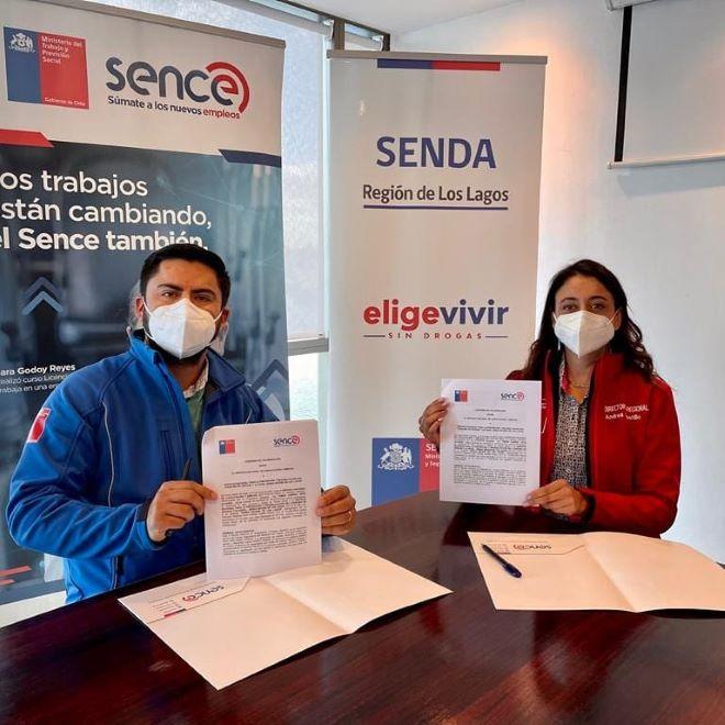 SENDA Y SENCE LOS LAGOS FORMAN ALIANZA EN BENEFICIO DE USUARIOS DE CENTROS DE TRATAMIENTO DE LA REGIÓN