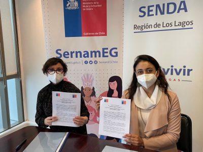 SENDA  y Sernameg Los Lagos concretan alianza para contribuir en la calidad de vida de las mujeres de la región