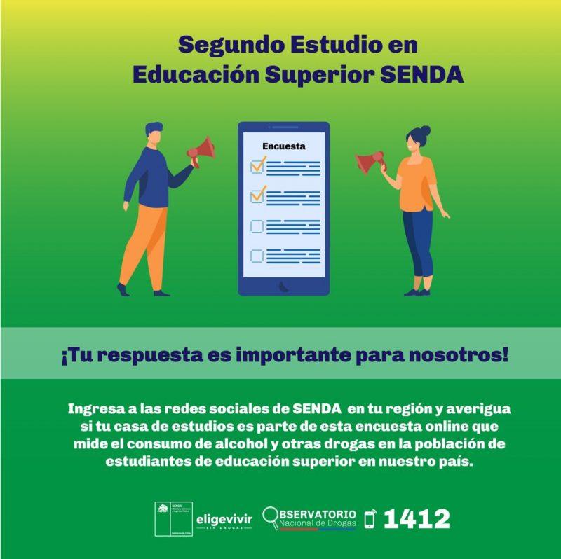 Comienza aplicación de Estudio sobre Drogas en Educación Superior del SENDA