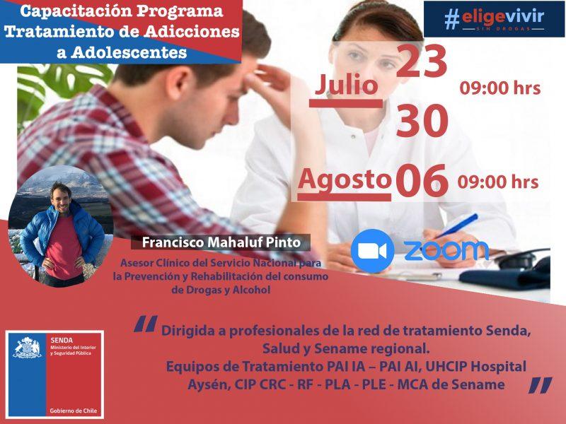 Senda finaliza Sesiones de Perfeccionamiento para Profesionales en Tratamientos por Consumo para Adolescentes de la Región