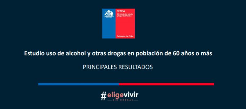 PRINCIPALES RESULTADOS ESTUDIO USO DE ALCOHOL Y OTRAS DROGAS EN POBLACIÓN DE 60 AÑOS O MÁS