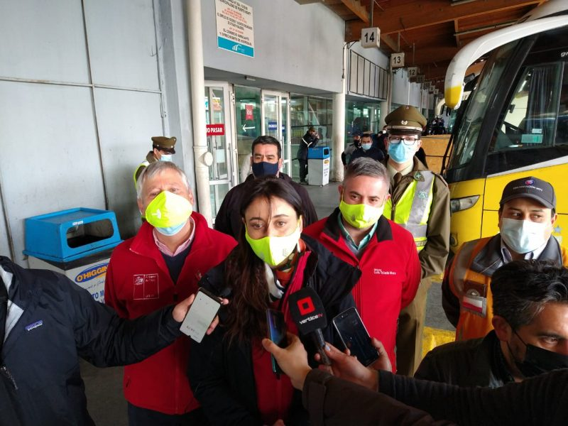 En Terminal de Buses de Puerto Montt autoridades reforzaron medidas de prevención para Fiestas Patrias