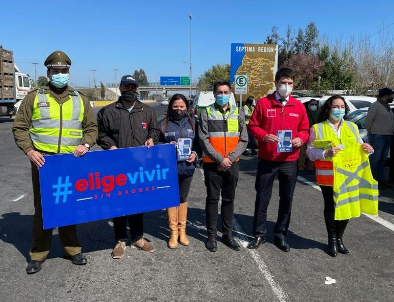 """Transportes, SENDA Maule y Carabineros lanzan Plan """"18 Seguro"""""""